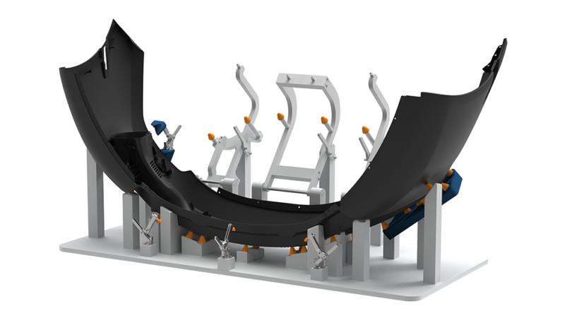 Generative Parametrics - front bumper assembly - fixture design