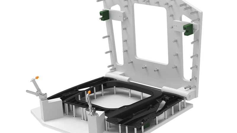 Generative Parametrics - Spider engine cooling fixture - fixture design