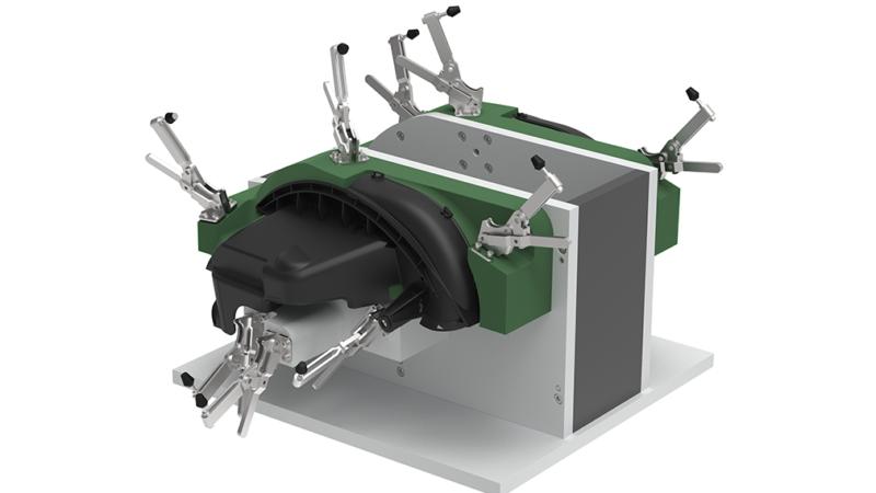 Generative Parametrics - Front brake duct machining - fixture design
