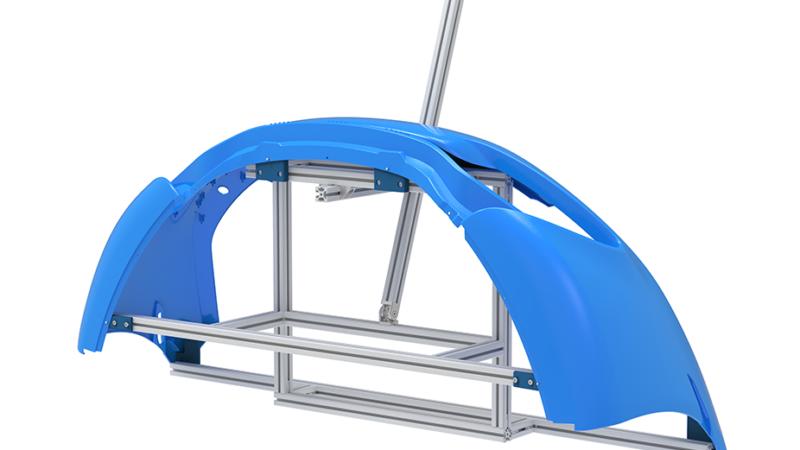 Generative Parametrics - front bumper pain frame - fixture design